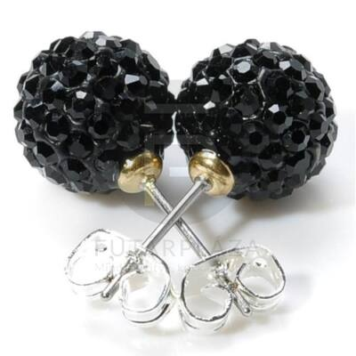 Shamballa fülbevaló - fekete