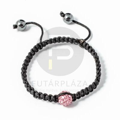 Shamballa karkötő 1 kristály pink