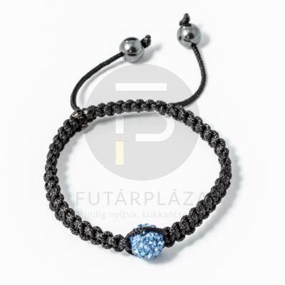 Shamballa karkötő 1 kristály kék
