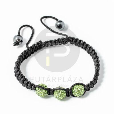 Shamballa karkötő 3 kristály zöld