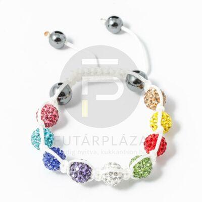 Multicolor shamballa karkötő fehér