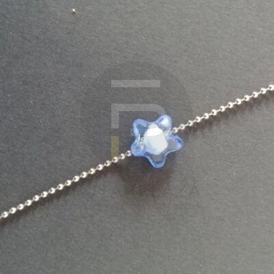 Csillag alakú gyöngy - kék