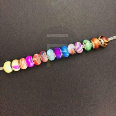 Batikolt mintás charm vegyes színben