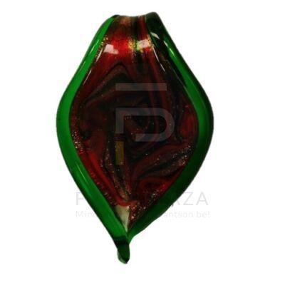 Levél alakú üvegmedál