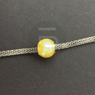 Selyemfényű charm - sárga