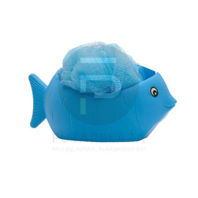 Fürdőpamacs öntapadó tárolóval kék 57038BL