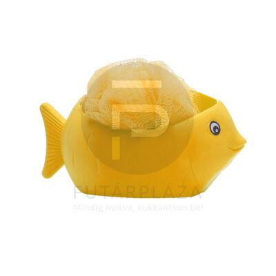 Fürdőpamacs öntapadó tárolóval sárga 57038YE