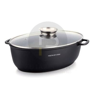 Mischler Cook sütőtál 38 cm fekete MC-DAVR38