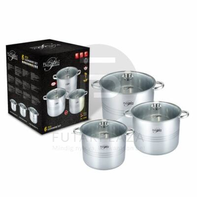 Platinum 6 részes inox fazékkészlet PL-11002