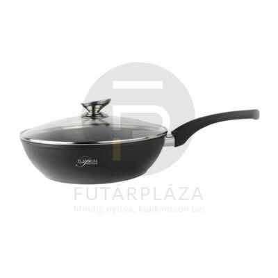 Platinum serpenyő fedővel 28 cm fekete PL-FDADF28