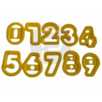 kiszúró forma készlet 10db szám 10270
