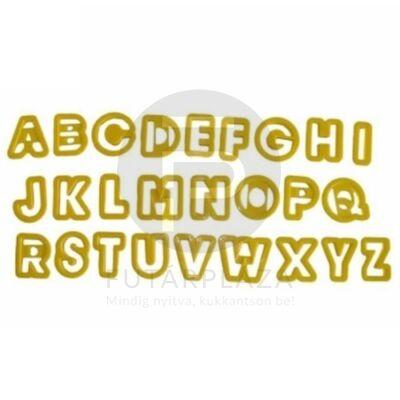 kiszúró forma készlet 26db betű 10271