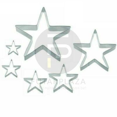 kiszúró forma csillag 6db 10354
