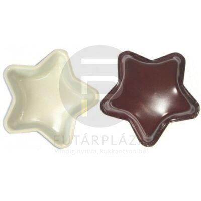 csillag alakú tepsi barna 10365
