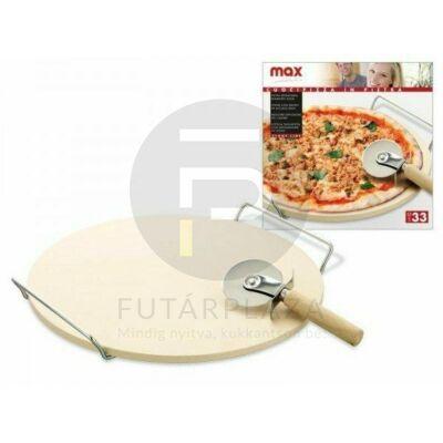 pizzasütő lap pizzavágóval 32cm 12075