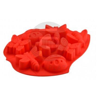 szilikon sütőforma lepke-katica piros 12383