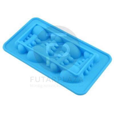 szilikon sütőforma halszálka kék 12384