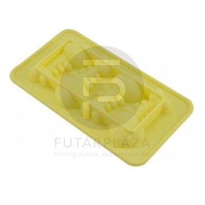 szilikon sütőforma halszálka sárga 12384