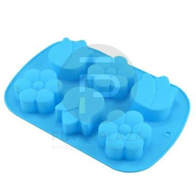 szilikon sütőforma virágok kék 12385