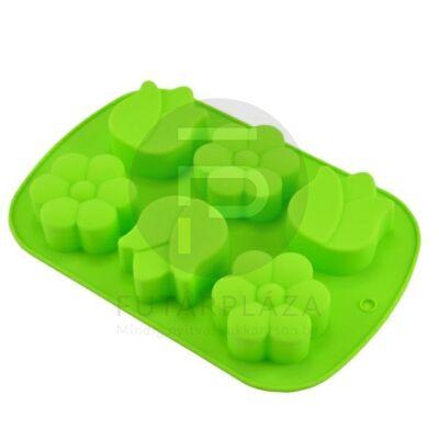 szilikon sütőforma virágok zöld 12385