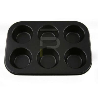 muffinsütő 6db-os fekete 28176