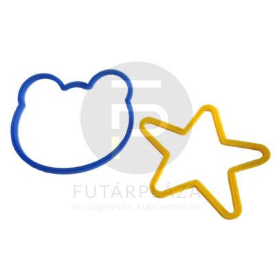 szilikon formázó maci-csillag 28315