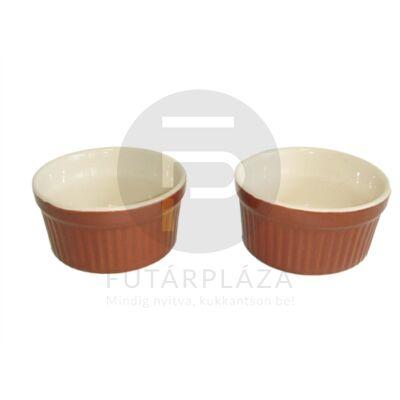 kerámia sütőforma 2db-os barna 15816