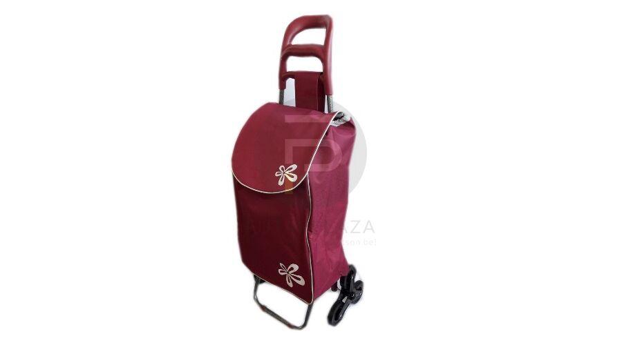 1170438efe3a Kerekes bevásárló táska lépcsőzős bordó KB-17 | Futárpláza.hu