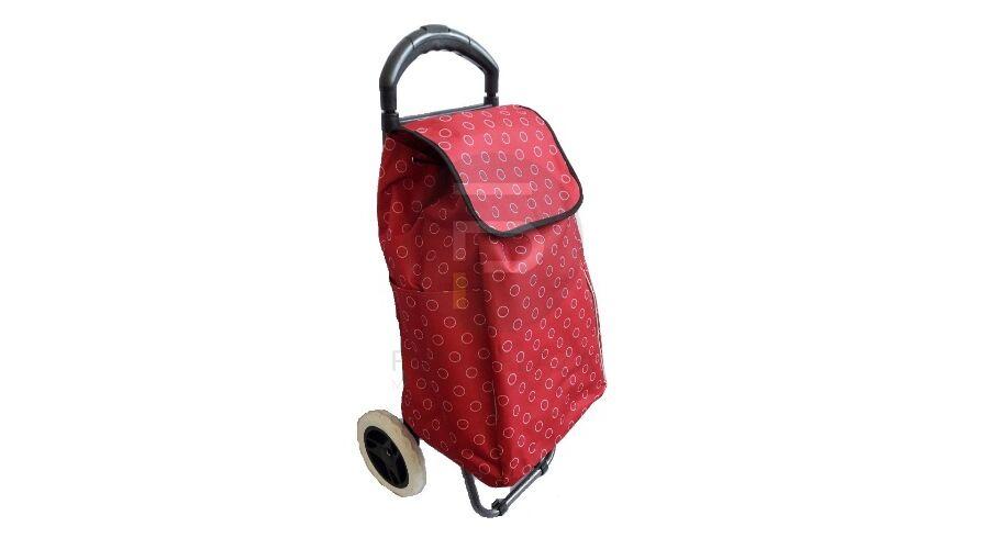 aec67b1aa64f Kerekes bevásárló táska piros pöttyös KB-25 | Futárpláza.hu