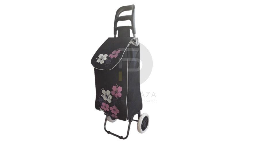 e887d3ee32b2 Kerekes bevásárló táska virágos fekete KB-31 | Futárpláza.hu